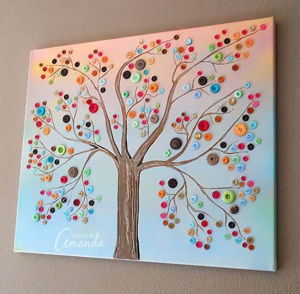 Button-wall-art