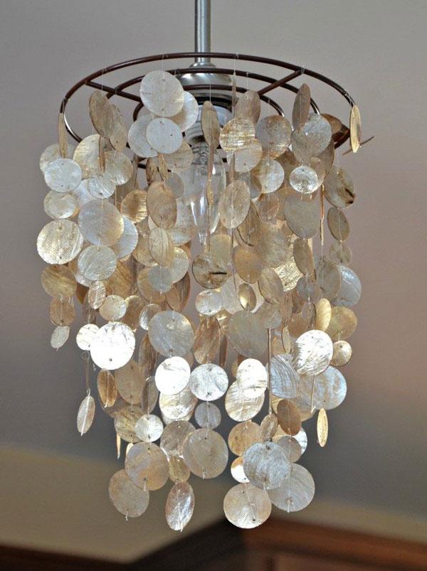 DIY-shell-chandelier