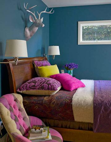 bedroom pain ideas with indigo color