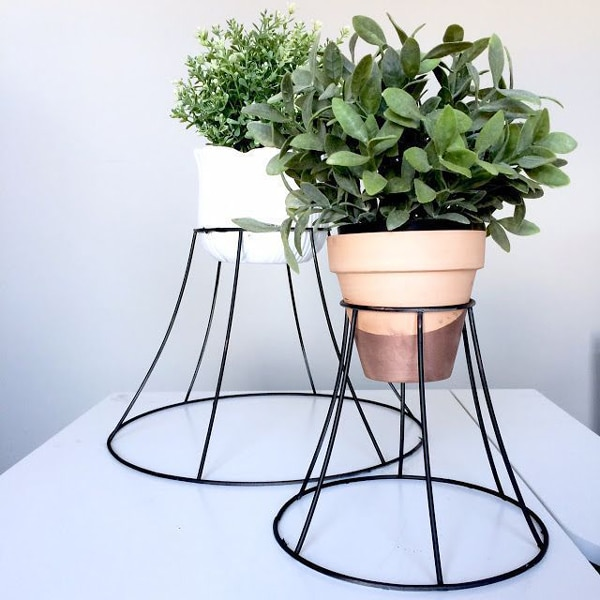 plant stand with lampshades