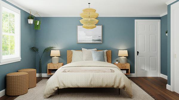 turquoise idea in bedroom