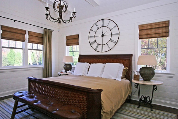 DIY bedroom decor with clock