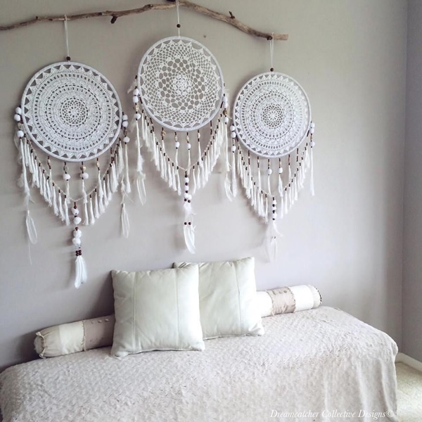 DIY bedroom decor with dreamcatcher