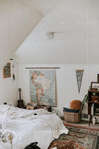 carpet in boho bedroom