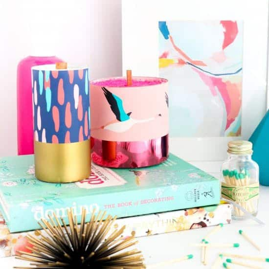 DIY room with decorative candles