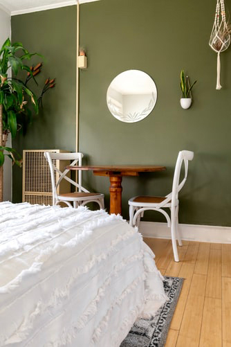 bedroom paint ideas with green