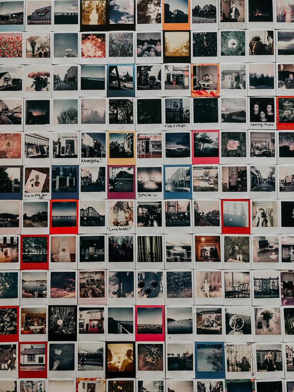 memory-board on wall