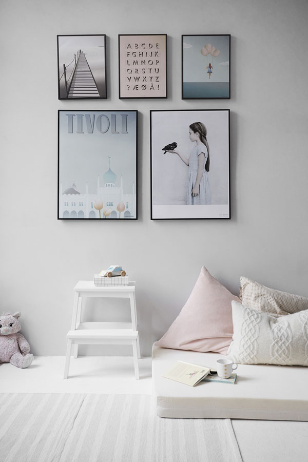 picture frame on the bedroom wall