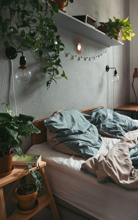 plants in bedroom decorating