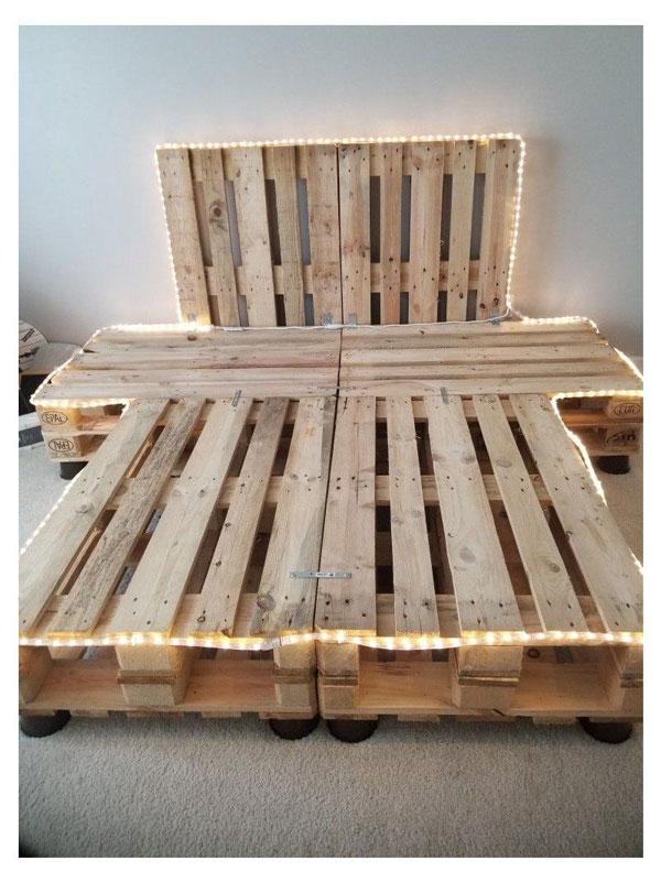 lighting queen-size-pallet-bed