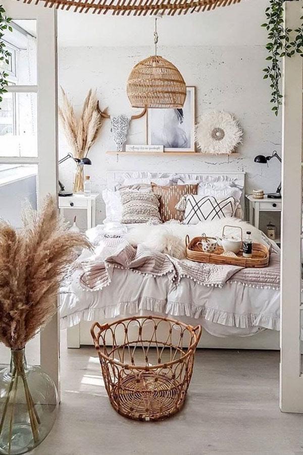 wooden-basket-boho-bedroom