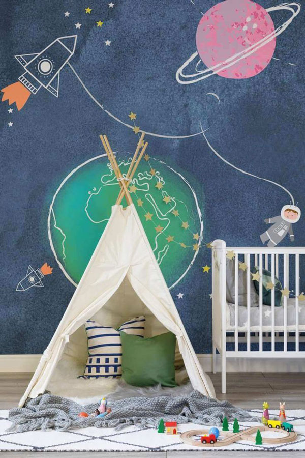 Baby-bedroom-wallpaper-and-tent