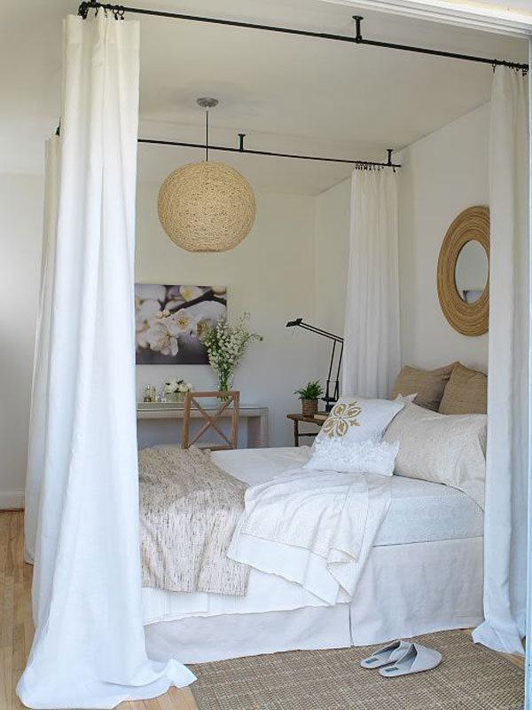 Bed-Canopy-Curtains-with-mirror