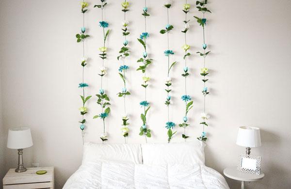 DIY-Flower-wall-bedroom-ideas