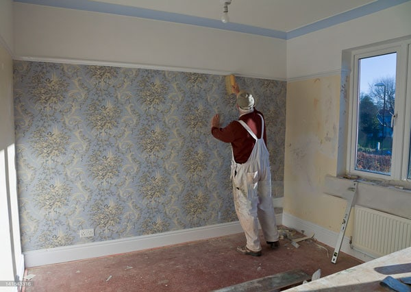 DIY bedroom wallpaper