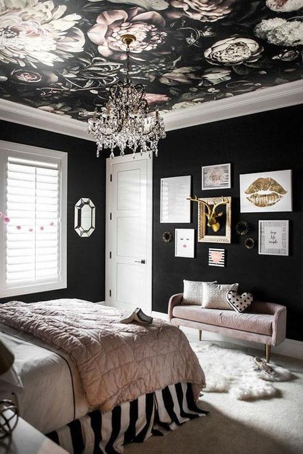Dark-wallpaper-for-the-bedroom