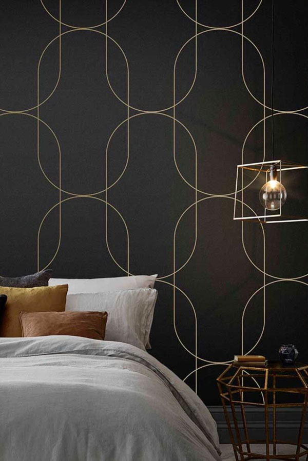 Geometric-wallpaper-for-bedroom