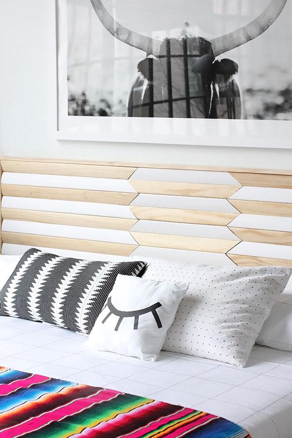 Geometric-wooden-DIY-headboard
