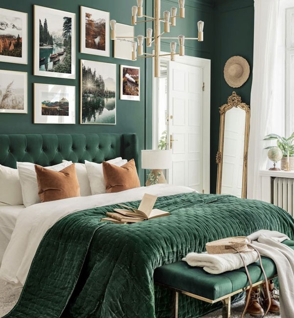 Gold-with-emerald-green-wall