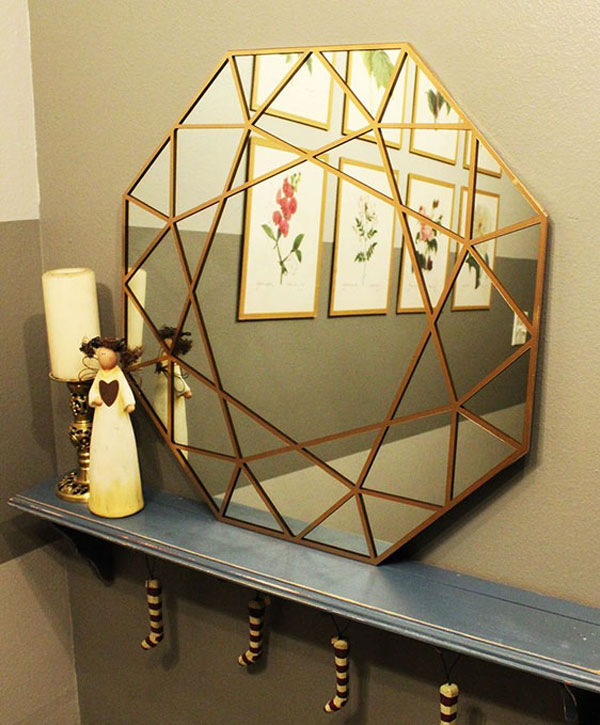 Making-a-geometric-Bedroom-wall-mirror