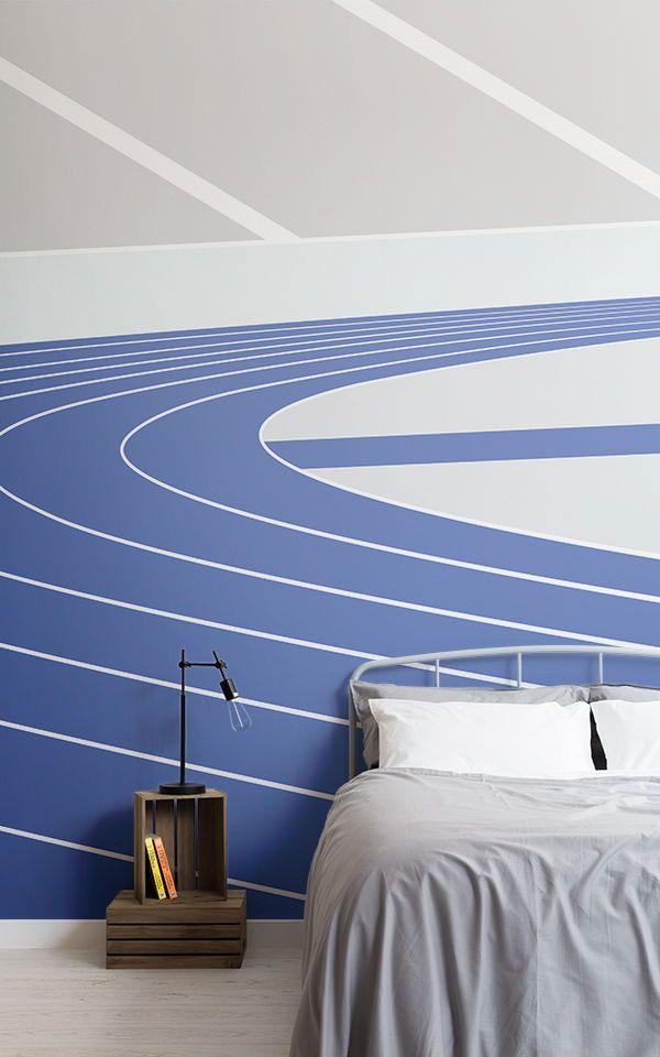 Sporty-diy-wallpaper-ideas-for-bedroom