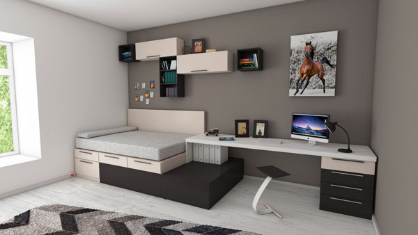 The-bed-and-the-table-that-are-connected