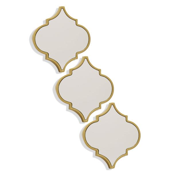 Three-piece-rhombus-decorative-mirror