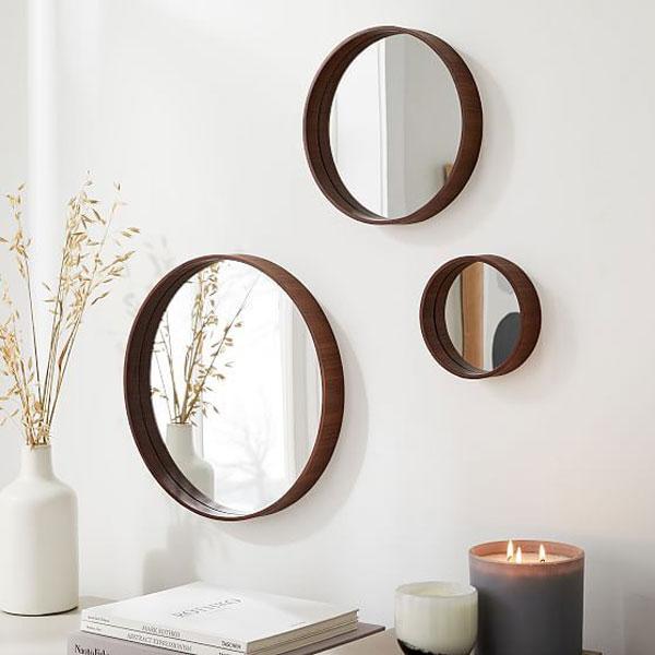 Three-piece-round-decorative-mirror