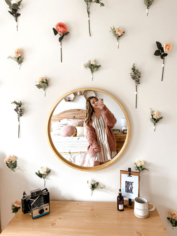 a-girl-with-flower-decoration-wall