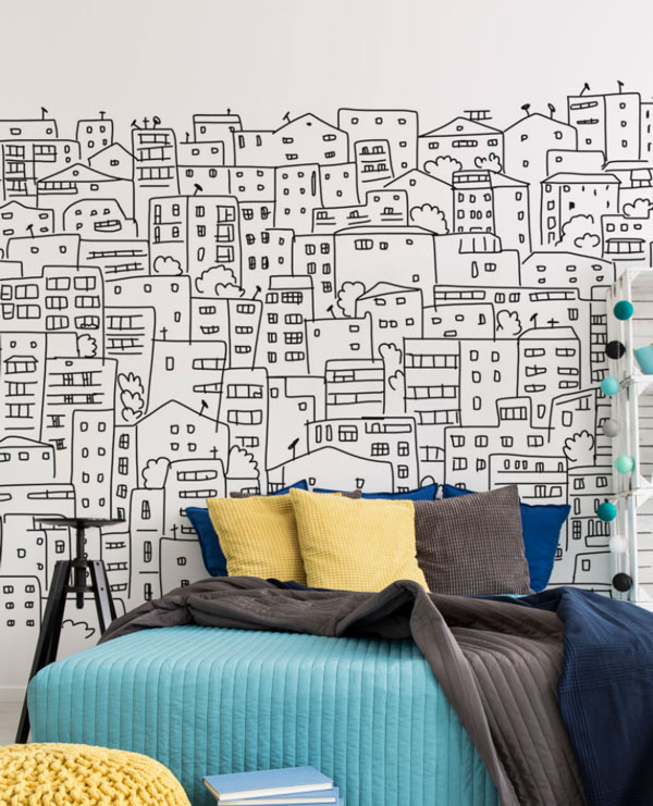 black-and-white-bedroom-wall-mural