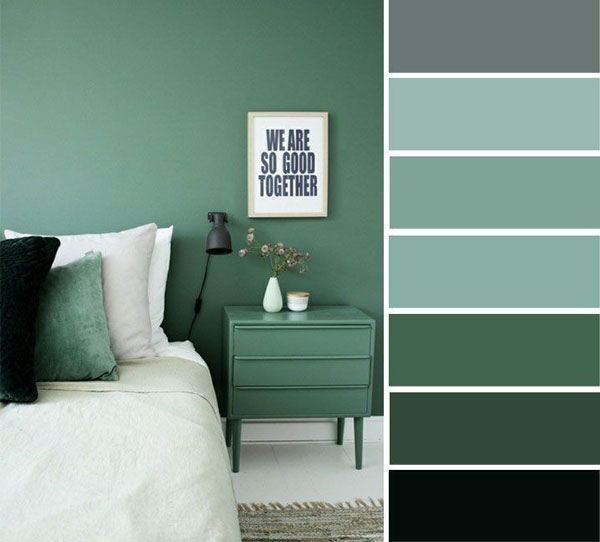 different-ranges-of-green-color-for-bedroom