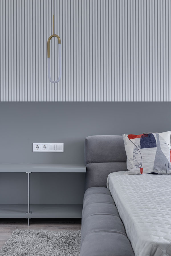 gray and white decor