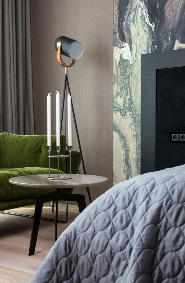 green color furniture for bedroom