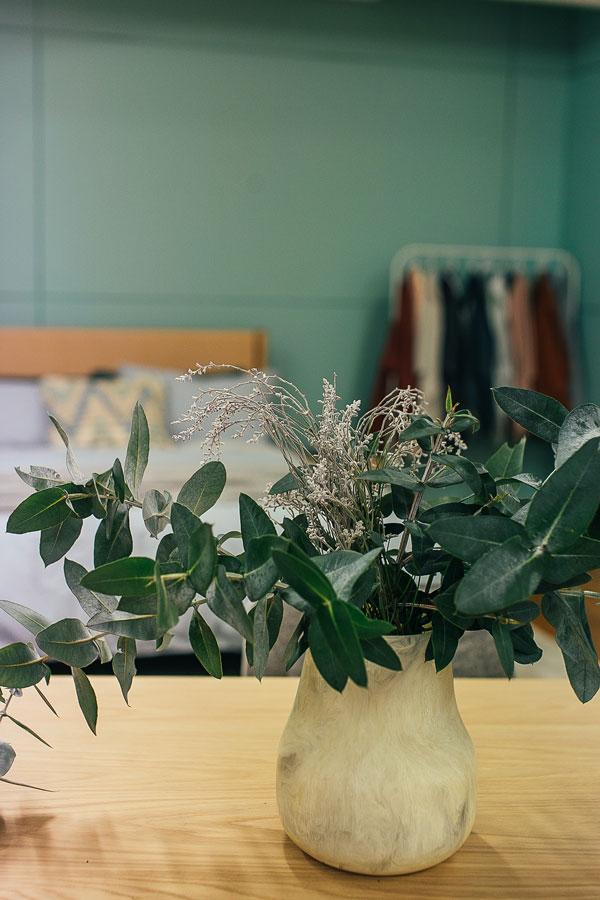 green plants in bedroom