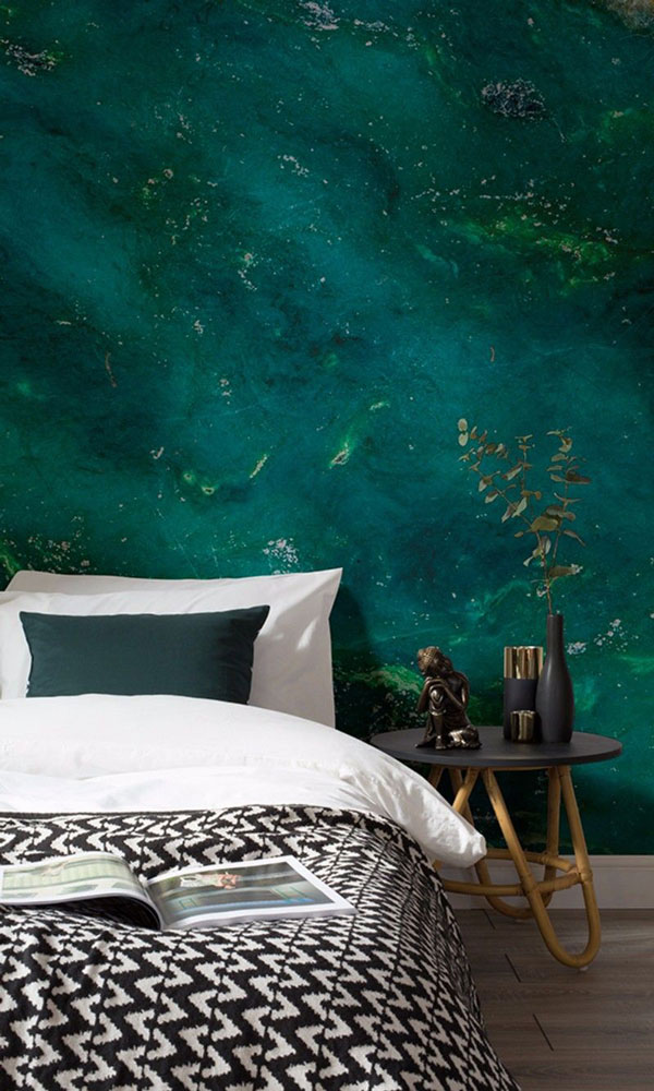 green-wallpaper-for-bedroom-wall