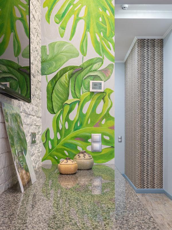 green wallpaper instead of green color for bedroom walls