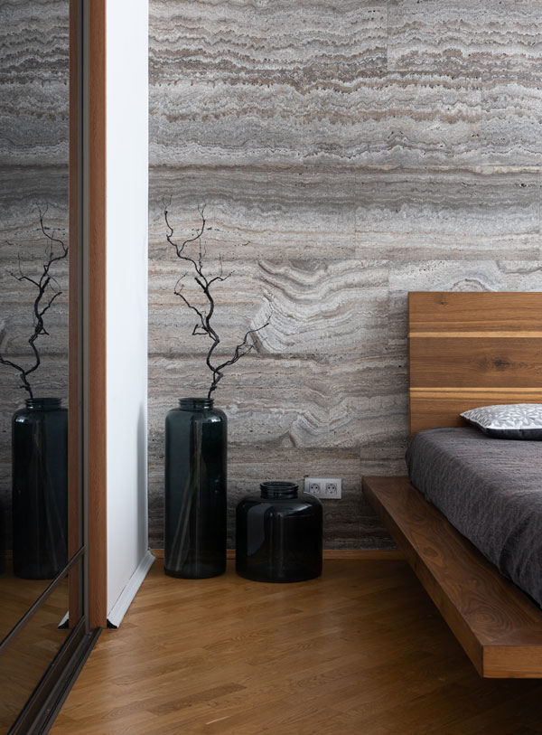 gray and wood in rustic style