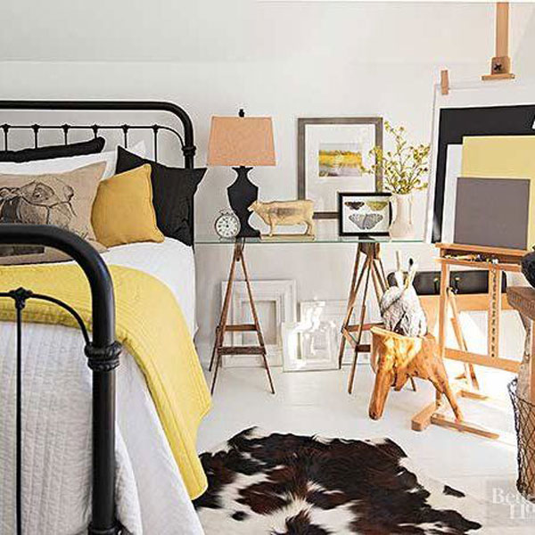 yellow-and-black-room