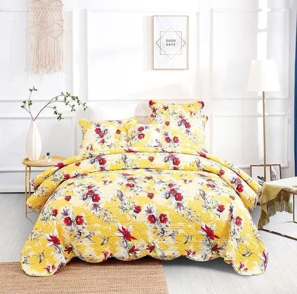 yellow-bedding-in-bedroom