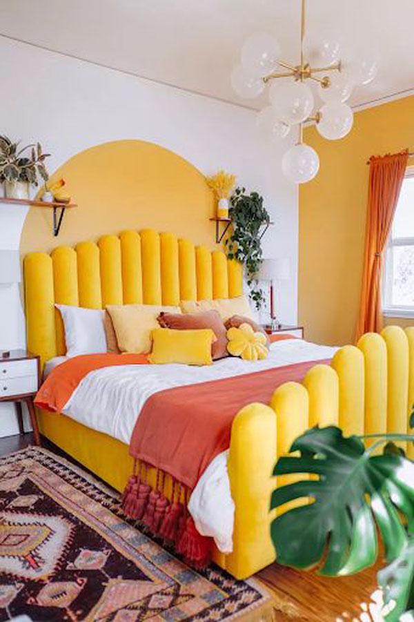 yellow-headboards-and-wall-bedroom