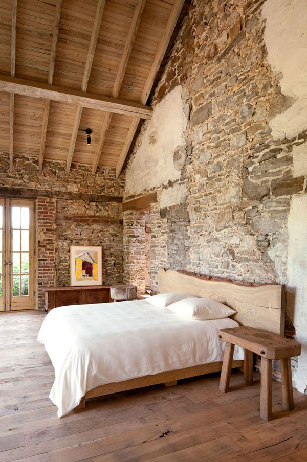 Antique-stones bedroom