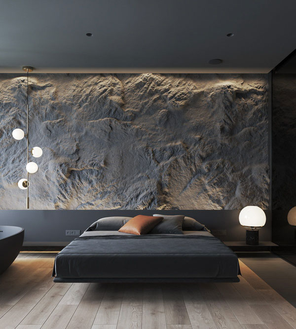 Stone-texture with lighting