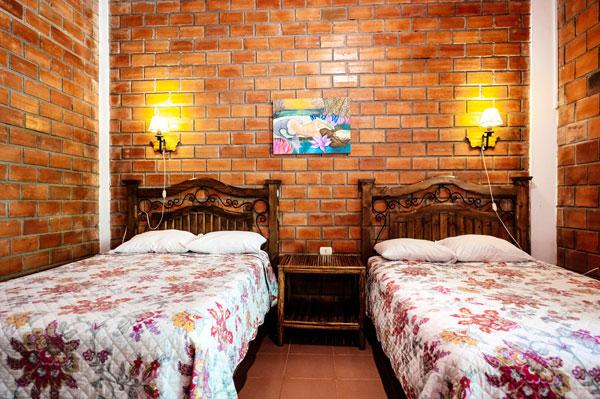 bricks-wall bedroom