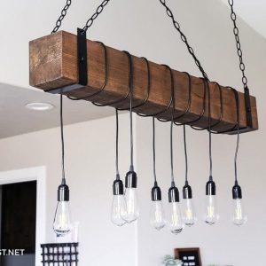 wooden lighting diy