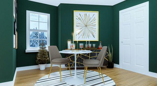 green-dining-room