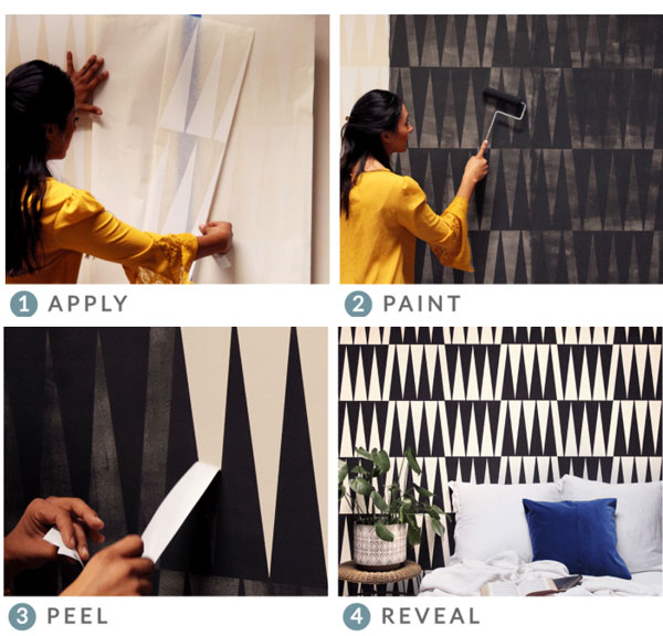 How to DIY wall mural stencils