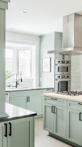 Kitchen-with-mint-green