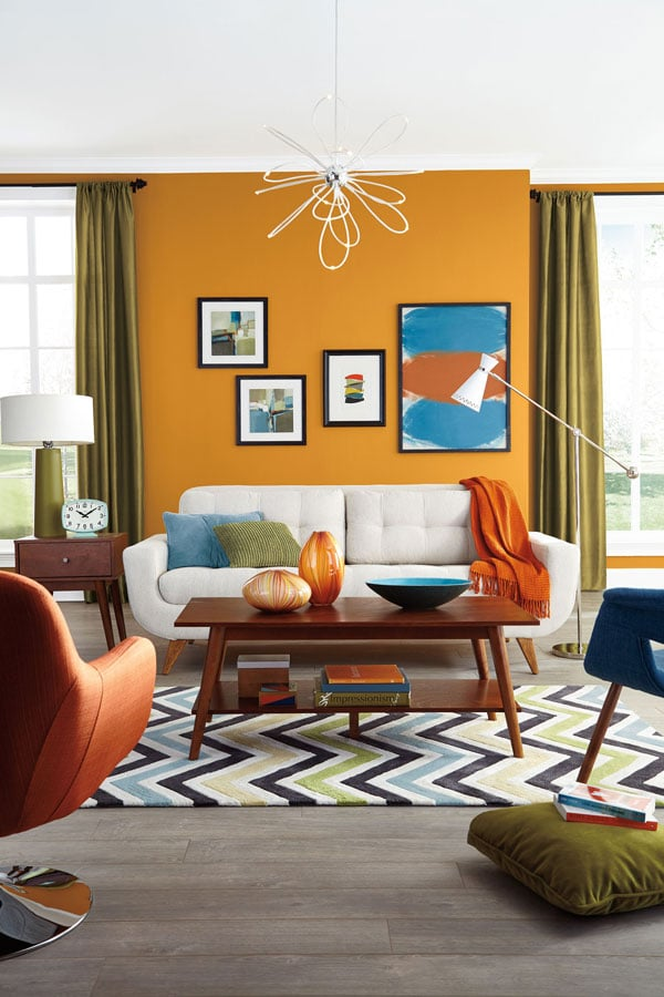 Painting-the-living-room-with-orange