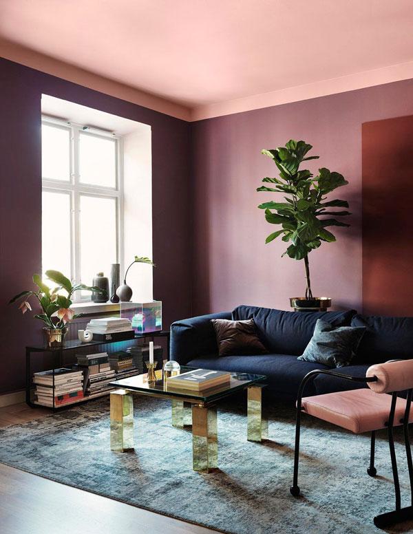 Purple-as-a-living-room-paint-colors