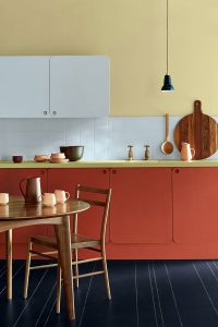 red-color-kitchen